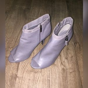 CATO Grey open toe ankle booties